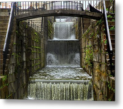 Lockport Falls Metal Print by Richard Engelbrecht