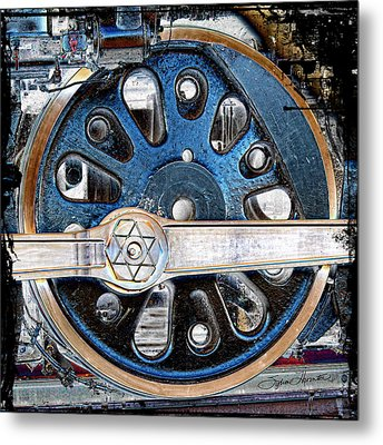 Loco Wheel Metal Print