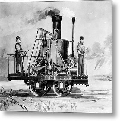 Locomotive, 1832 Metal Print