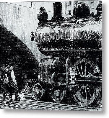 Locomotive Metal Print by Edward Hopper