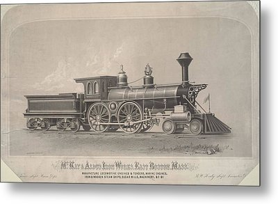 Locomotive Engines Metal Print by MotionAge Designs
