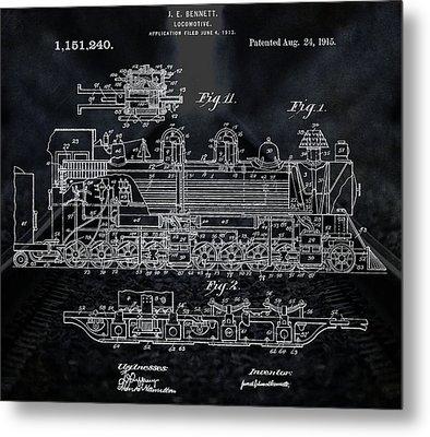 Locomotive Patent Metal Print by Dan Sproul