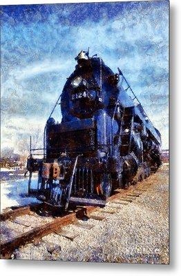 Locomotive Train 2124 Metal Print by Janine Riley