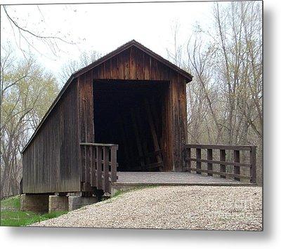 Locust Creek Covered Bridge Metal Print by Mark McReynolds