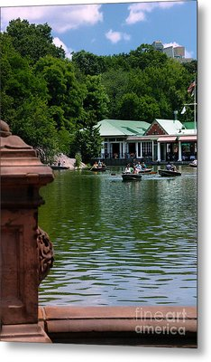Loeb Boathouse Central Park Metal Print by Amy Cicconi