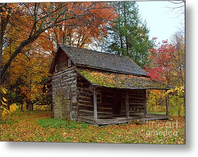 Metal Print featuring the photograph Log Cabin 1 by Jim McCain
