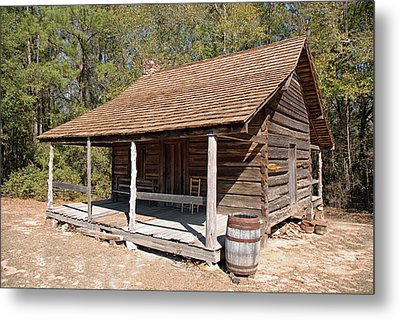 Metal Print featuring the photograph Log Cabin by Charles Beeler