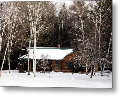 Metal Print featuring the photograph Log Cabin by Courtney Webster