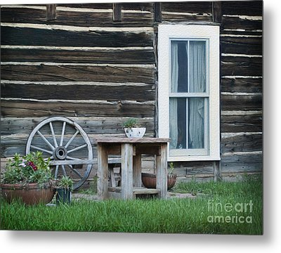 Log Cabin Metal Print by Juli Scalzi