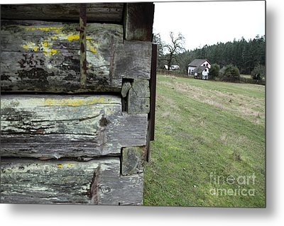 Log House Detail Metal Print by Graham Foulkes