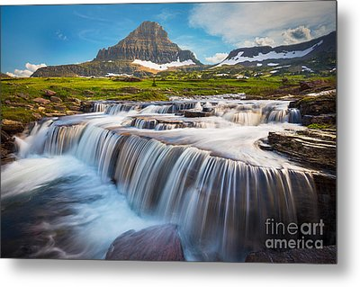 Logan Pass Falls Metal Print