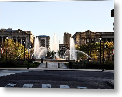 Logan Square Philadelphia Metal Print by Bill Cannon