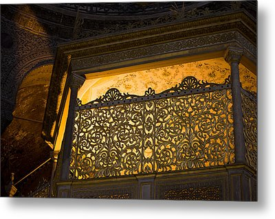 Loge Of The Sultan In Hagia Sophia  Metal Print by Artur Bogacki