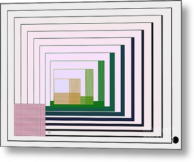 Logical Record Metal Print by Leo Symon