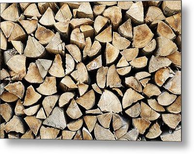 Logs Background Metal Print