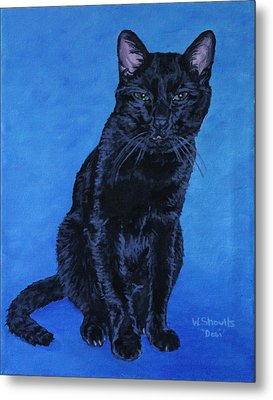 Metal Print featuring the painting Loki by Wendy Shoults