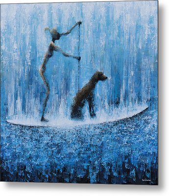 Lola In The Water Metal Print