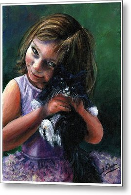 Metal Print featuring the painting Lola by Sarah Farren
