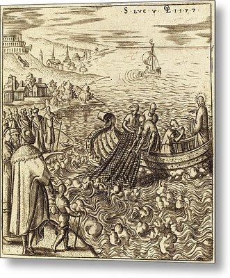 Léonard Gaultier, French 1561-1641, The Miraculous Draught Metal Print