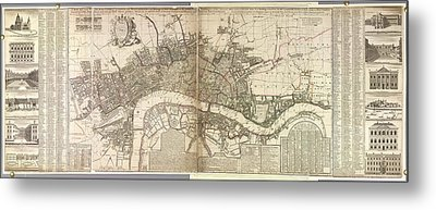 London And Westminster Metal Print by British Library