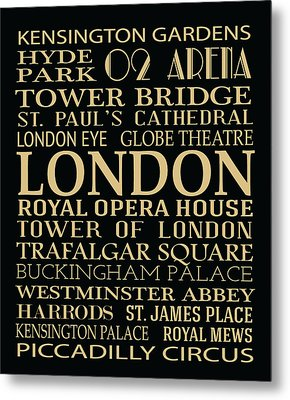 London Attractions Metal Print by Jaime Friedman