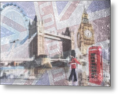 London Blue Metal Print