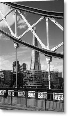 Metal Print featuring the photograph London Bridge With The Shard by Chevy Fleet