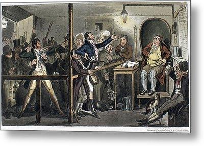 London Courtroom, 1821 Metal Print by Granger