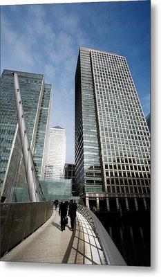 London Docklands Skyscrapers Metal Print by Carlos Dominguez