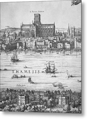 London During Elizabeth Is Reign 17th Metal Print by Everett