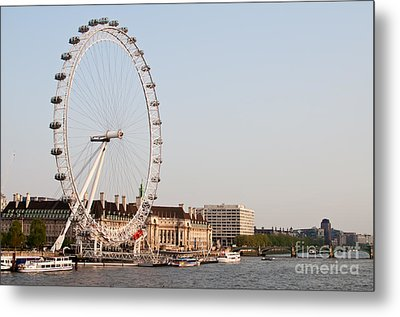 Metal Print featuring the photograph London Eye Day by Matt Malloy