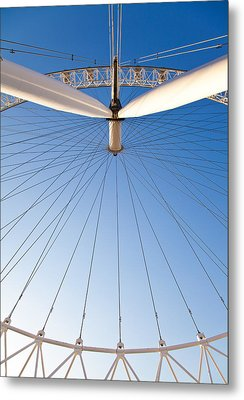 London Eye Geometry Metal Print by Adam Pender