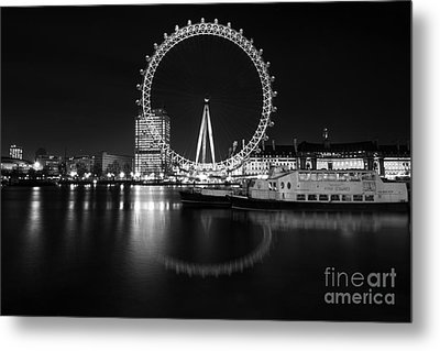 Metal Print featuring the photograph London Eye Mono by Matt Malloy