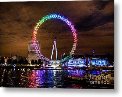 London Eye Pride Metal Print by Matt Malloy