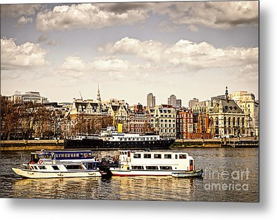 London From Thames River Metal Print