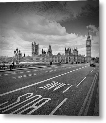 London - Houses Of Parliament  Metal Print by Melanie Viola