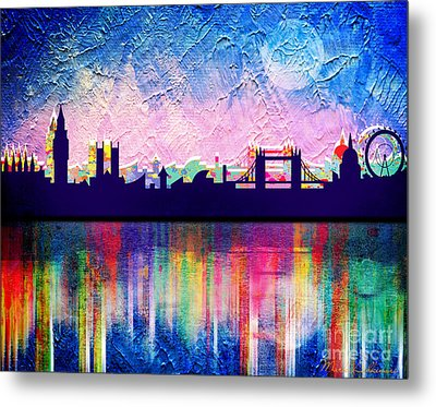 London In Blue  Metal Print by Mark Ashkenazi