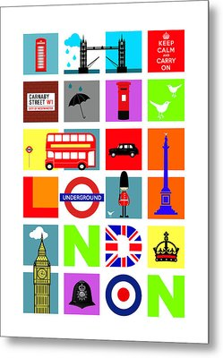 London Metal Print by Mark Rogan