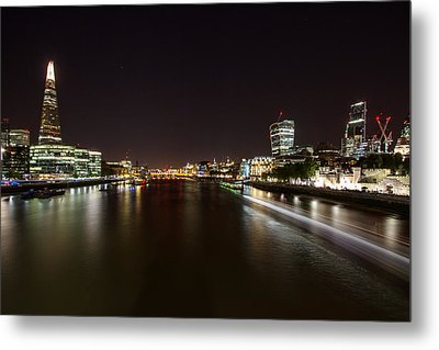 London Nightscape Metal Print by Wayne Molyneux