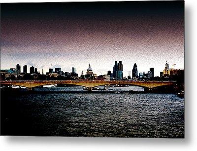 London Over The Waterloo Bridge Metal Print by RicardMN Photography