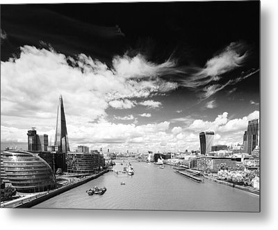 Metal Print featuring the photograph London Panorama by Chevy Fleet