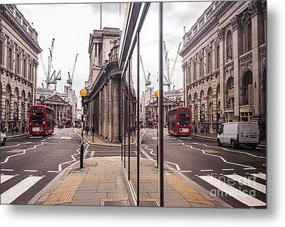 London Reflected Metal Print