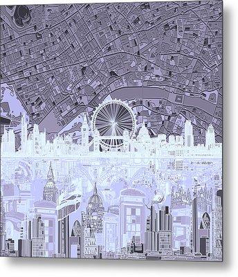 London Skyline Abstract 10 Metal Print