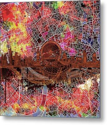 London Skyline Abstract 5 Metal Print