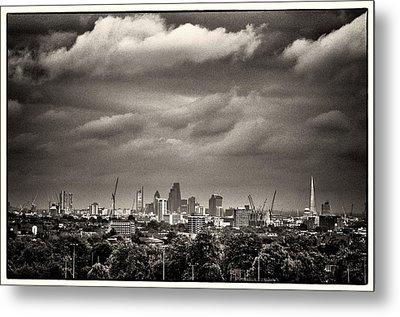 London Skyline From Hampstead Heath Metal Print