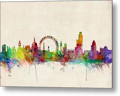 London Skyline Panoramic Metal Print