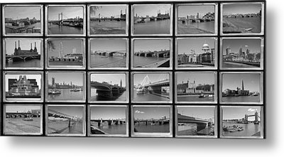 London Thames Bridges Metal Print