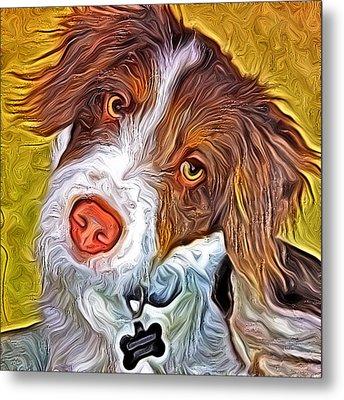 London The Dog Portrait Metal Print by Artistinoz Jodie sims
