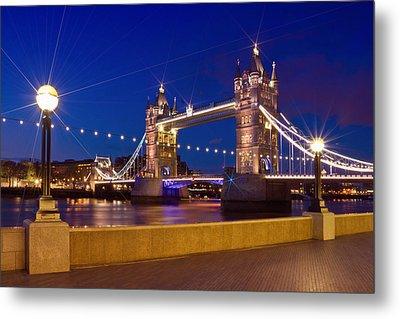 London Tower Bridge By Night Metal Print