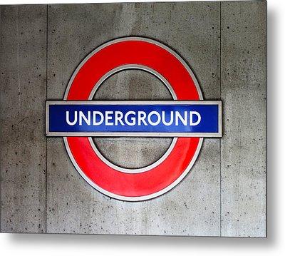 London Underground Sign Metal Print